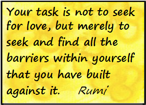 Icon Rumi love barriers yellow flowers 1